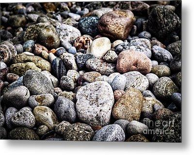 Beach Pebbles  Metal Print by Elena Elisseeva