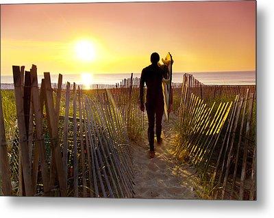 Beach Picket Fences Metal Print by Sean Davey