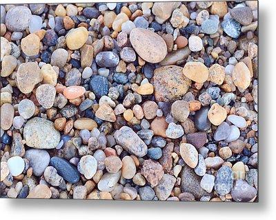 Beach Rocks Metal Print by Katherine Gendreau