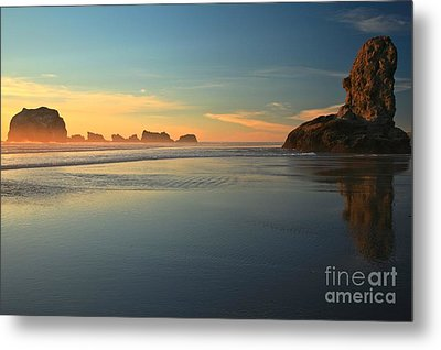 Beach Rudder Metal Print by Adam Jewell