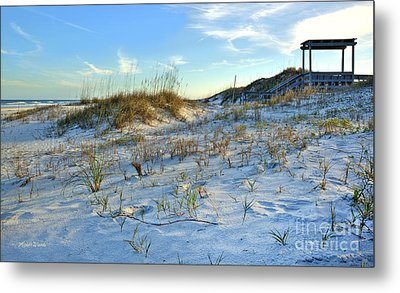 Beach Stairs Metal Print by Michelle Wiarda
