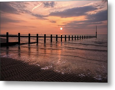Beach Sunset Metal Print by Ian Mitchell