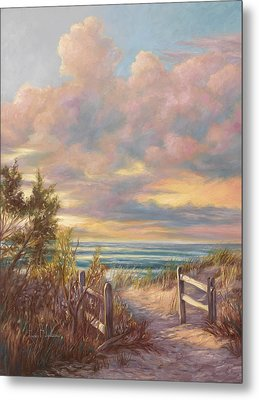 Beach Walk Metal Print by Lucie Bilodeau
