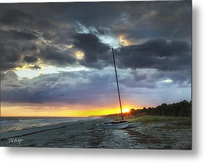 Beached For The Night Metal Print by Phill Doherty