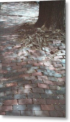 Beacon Hill Brick Metal Print by Jill Tuinier