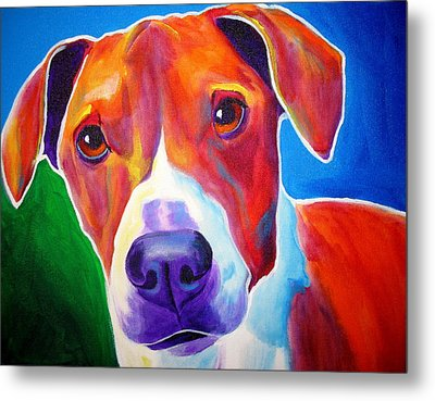 Beagle - Copper Metal Print by Alicia VanNoy Call