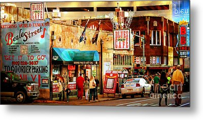 Beale Street Metal Print by Barbara Chichester