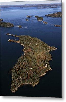 Bear Island, Penobscot Bay Metal Print by Dave Cleaveland