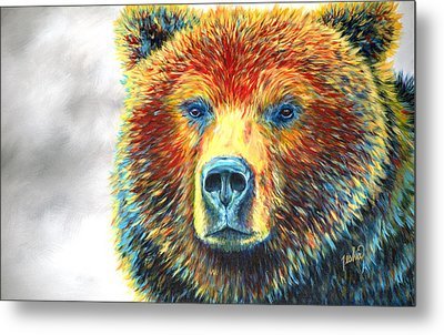 Bear Thoughts Metal Print by Teshia Art