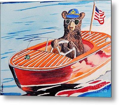 Bearboat Metal Print by LeAnne Sowa