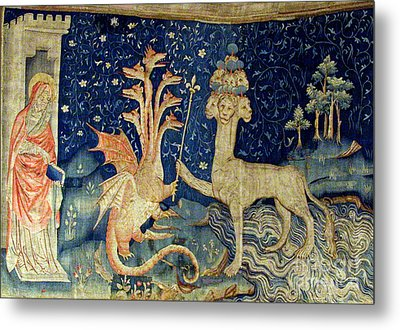 Beasts Of The Apocalypse Tapestry Metal Print by Photo Researchers