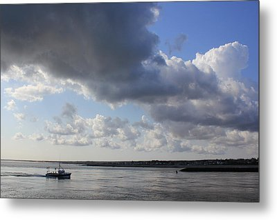 Beating The Storm Metal Print by Amazing Jules