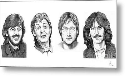 Beatles Metal Print by Murphy Elliott