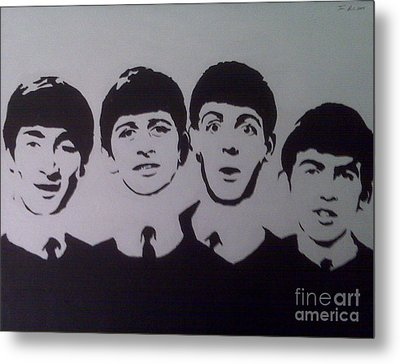 Beatles Metal Print by Tamir Barkan