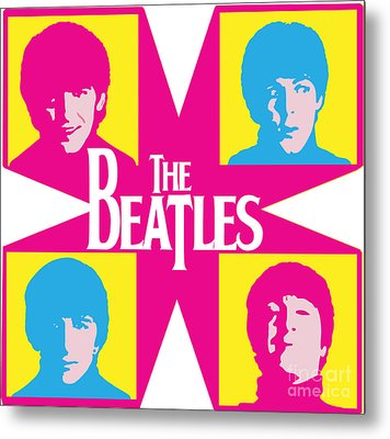 Beatles Vinil Cover Colors Project No.01 Metal Print by Unknow