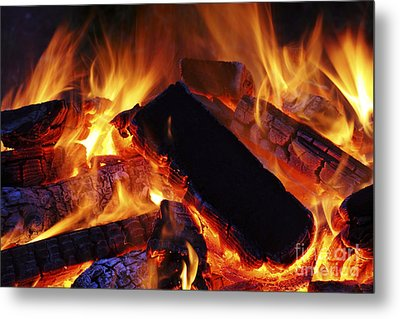 Beautiful Camp Fire Metal Print by Boon Mee
