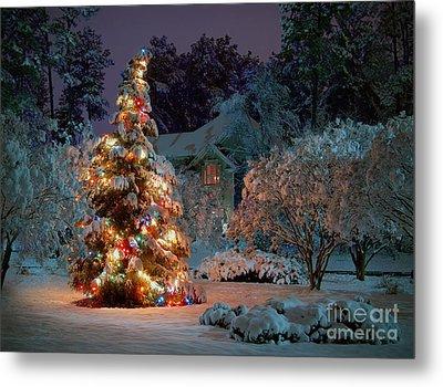 Beautiful Christmas Tree Lights Metal Print by Boon Mee