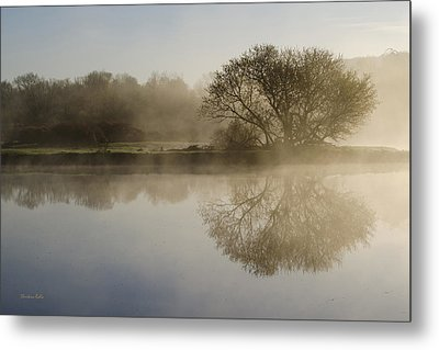 Beautiful Misty River Sunrise Metal Print by Christina Rollo