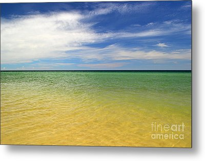 Beautiful St George Island Water Metal Print by Holden Parker