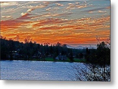 Beautiful Sunset At Lake Clear Lake Washington Metal Print by Valerie Garner