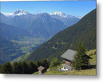 Beautiful View From Riederalp - Swiss Alps Metal Print by Matthias Hauser