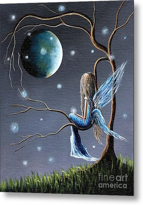 Fairy Art Print - Original Artwork Metal Print by Shawna Erback