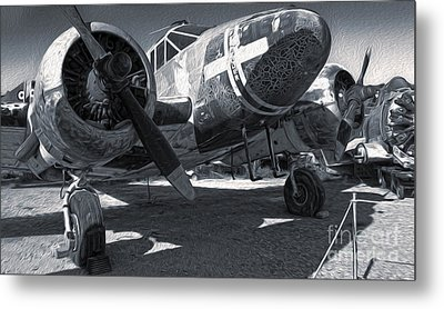 Beech Expeditor Uc-45 - 03 Metal Print by Gregory Dyer