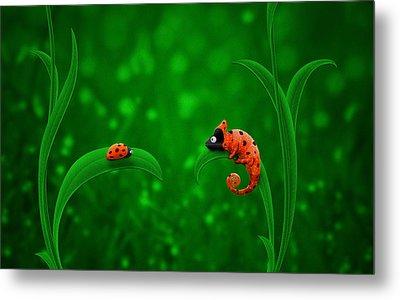 Beetle Chameleon Metal Print by Gianfranco Weiss