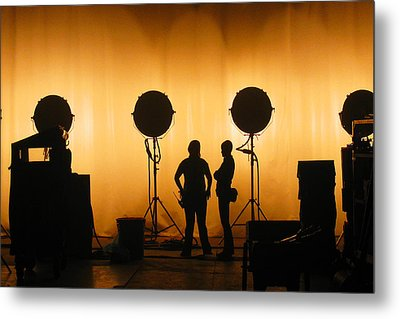 Behind The Scenes Metal Print by Lesley DeHaan