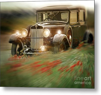 Behind The Wheel Metal Print by Edmund Nagele