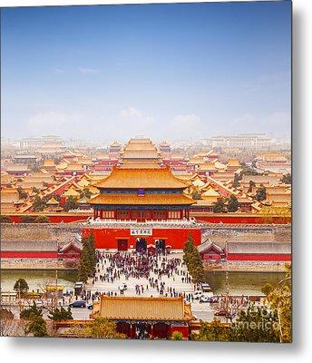 Beijing Forbidden City Skyline Metal Print by Colin and Linda McKie