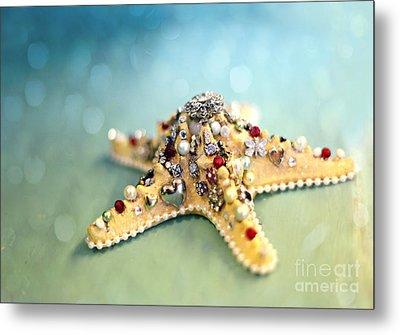Bejeweled Starfish Metal Print by Sylvia Cook
