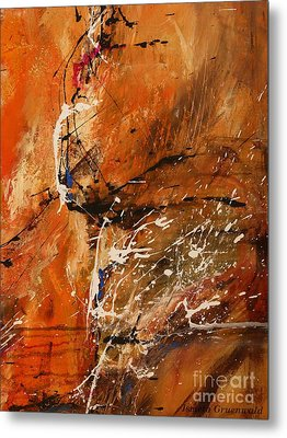 Believe In Dreams - Abstract Art Metal Print by Ismeta Gruenwald