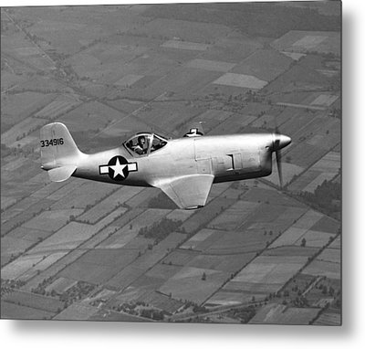 Bell Aircraft Xp-77 Metal Print by Underwood Archives