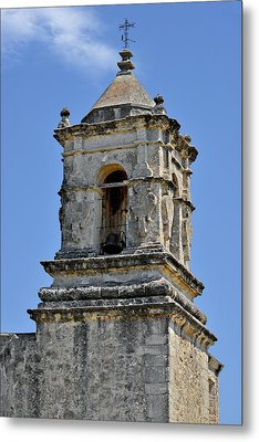 Bell Tower Mission San Jose Tx Metal Print by Christine Till