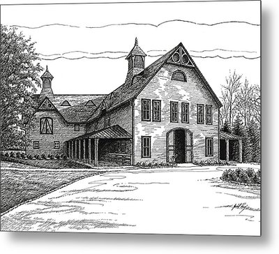Belle Meade Plantation Carriage House Metal Print by Janet King