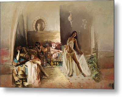 Belly Dancer Lounge Metal Print by Corporate Art Task Force