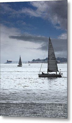 Bembridge Pier From Gosport Metal Print by Terri Waters