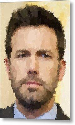 Ben Affleck Portrait Metal Print by Samuel Majcen