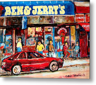 Ben And Jerrys Ice Cream Parlor Metal Print by Carole Spandau