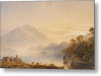 Ben Venue And The Trossachs Seen From Loch Achray Metal Print by Anthony Vandyke Copley Fielding