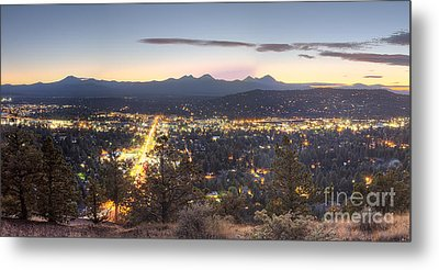 Bend From Pilot Butte In Evening Metal Print by Twenty Two North Photography