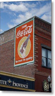 Bend Oregon Coke Sign Metal Print by Gary Grayson