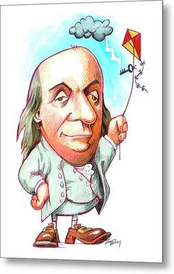 Benjamin Franklin Metal Print by Gary Brown