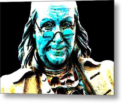 Benjamin Franklin - Historic Figure Pop Art By Sharon Cummings Metal Print by Sharon Cummings
