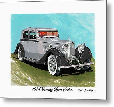 Bentley Sport Sedan 1934 Metal Print by Jack Pumphrey