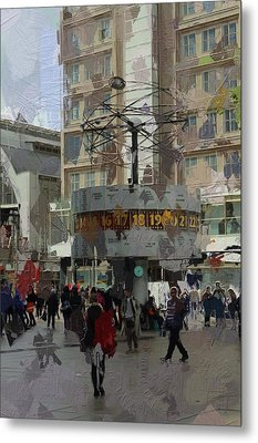 Berlin Alexanderplatz Metal Print by Stefan Kuhn