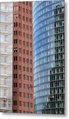 Berlin Buildings Detail Metal Print by Matthias Hauser