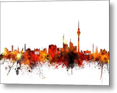 Berlin Germany Skyline Metal Print by Michael Tompsett