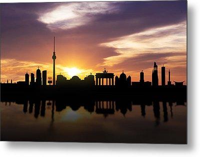 Berlin Sunset Skyline  Metal Print by Aged Pixel
